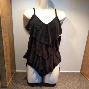 Magic Suit Black Two Piece Size 8